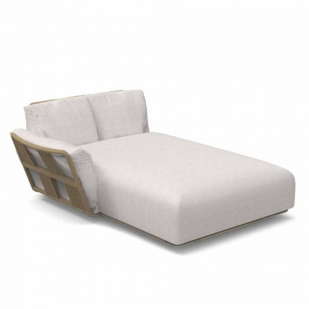 Trädgårdschaiselong soffa i tyg och aluminium - Scacco av Talenti