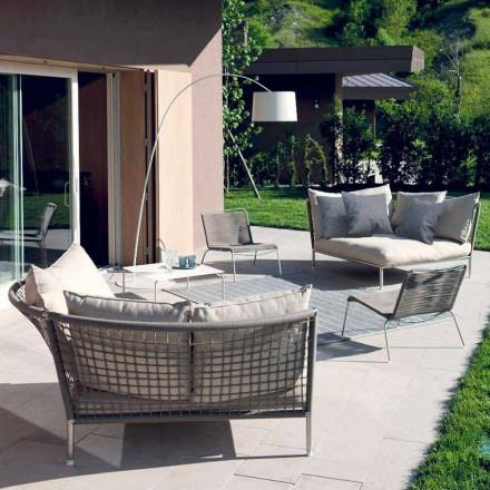 Cirkulärt trädgårds soffatyg tillverkat i Italien Design - Ontario4