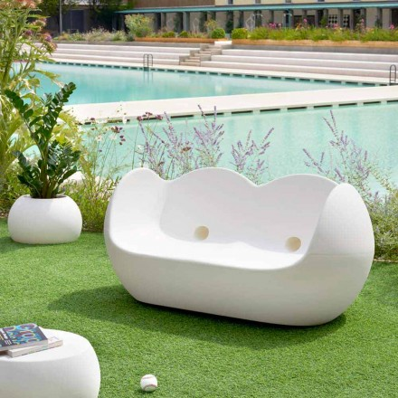 Utomhus rockande soffa Slide Blossy modern design gjord i Italien
