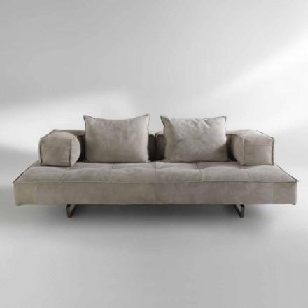 Soffa modern design Cardo, läderklädsel
