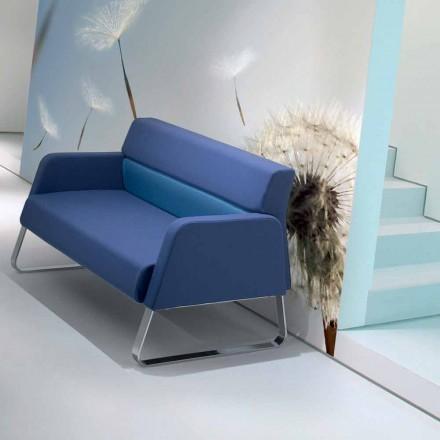 Designer imitation läder väntar soffa gjord i Italien Ennio