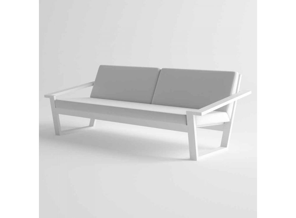 2 eller 3-sitss utesoffa i aluminium och tyg modern design - Louisiana