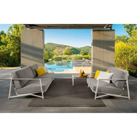 2-sits utomhus soffa i aluminium och tyg - Stuga lyx av Talenti