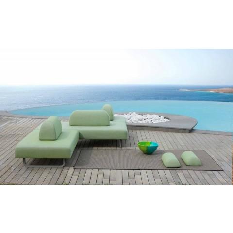 3-sits soffa i metall och tyg tillverkad i Italien - Selia
