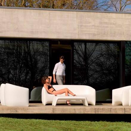Modern utomhus soffa gjord med polyetenharts, Blow by Vondom