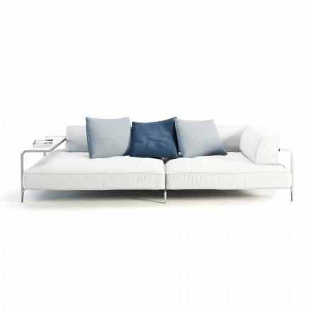 Utomhus soffa klädd i modern design tyg tillverkad i Italien - Arkansas