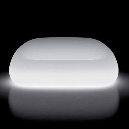 Ljus utomhussoffa med LED-ljus i polyeten Tillverkad i Italien - Ervin
