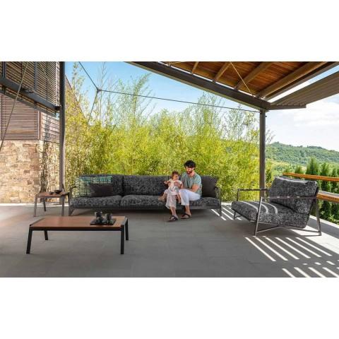3-sits trädgårdsoffa i aluminium och tyg - Lyxstuga av Talenti