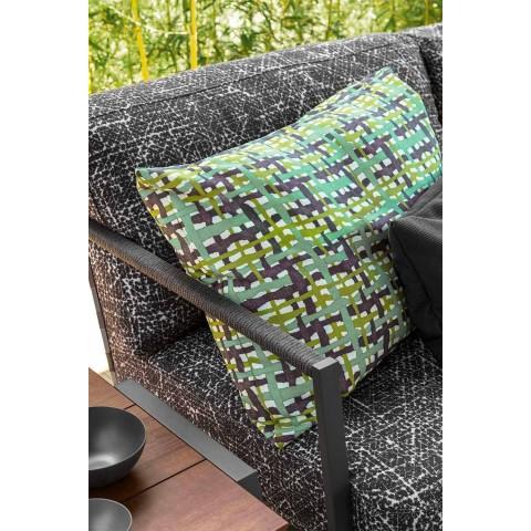 3-sits trädgårdssoffa i aluminium och tyg - Stuga lyx av Talenti