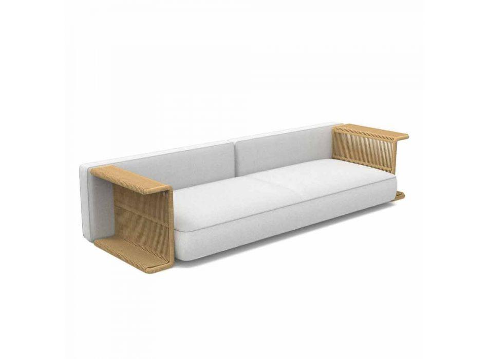 3-sits trädgårdssoffa i vitt, beige eller grått tyg - Cliff Decò Talenti