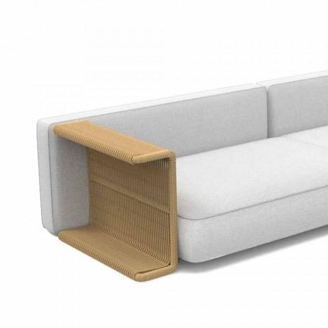 3-sits trädgårdsoffa i vitt, beige eller grått tyg - Cliff Decò Talenti