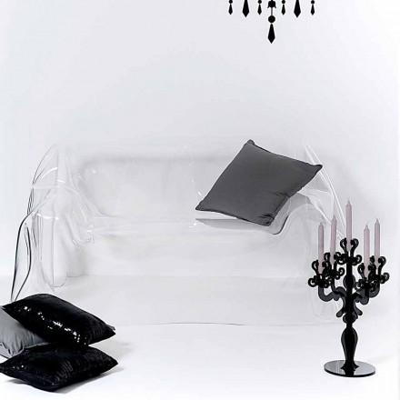 Modern soffa konstruktion plexiglas Jolly, tillverkad i Italien