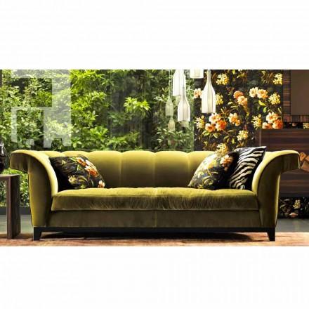 Design 3-sitsad stoppad soffa av Grilli Shell handgjord i Italien