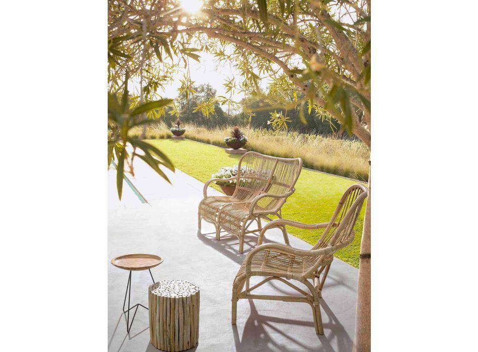 2-sits lyxig utesoffa i syntetfiber för trädgård - Melizia