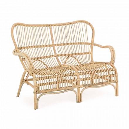 2-sits soffa utomhus i trädgårdsrotting - Melizia