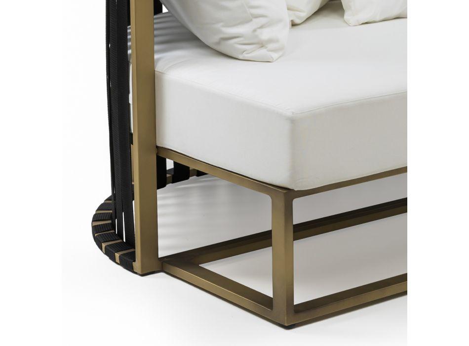 2-sits utomhus soffa i aluminium med lyxiga rep 3 ytor - Julie