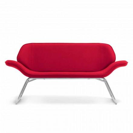 Gjord i Italien Cesare läder imitation läder väntande soffa