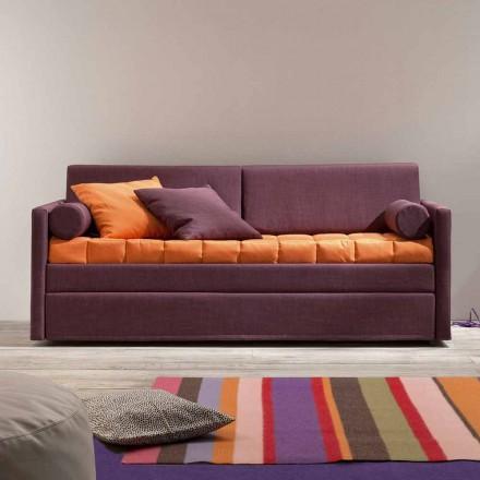 Design våningssäng soffa täckt i tillverkad i Italien tyg - Gretel