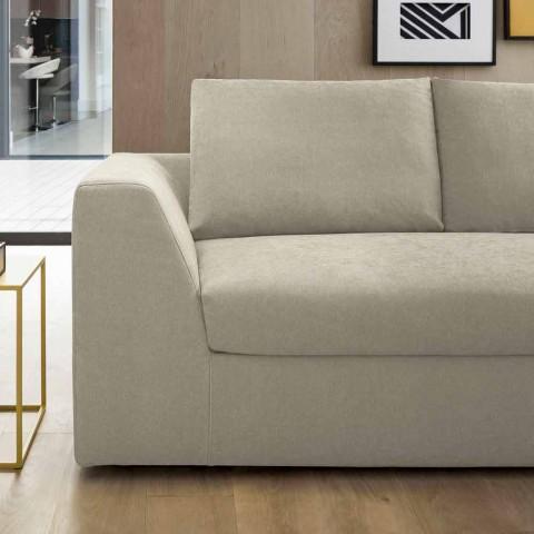 Design bäddsoffa i beige tyg tillverkad i Italien - Ortensia