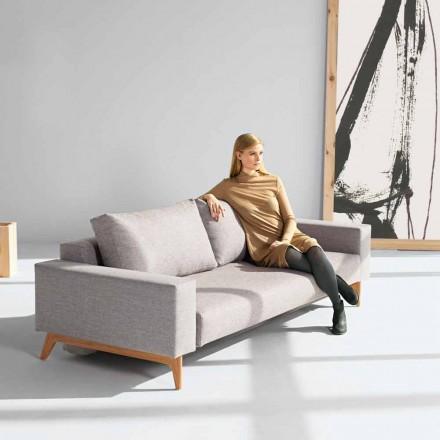 Grå soffa modern skandinavisk design säng Idun genom innovation