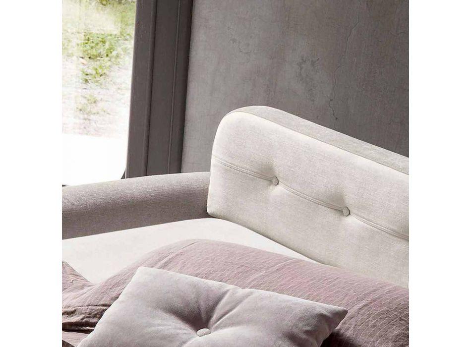 Bäddsoffa i designtyg tillverkad i Italien - Anemone