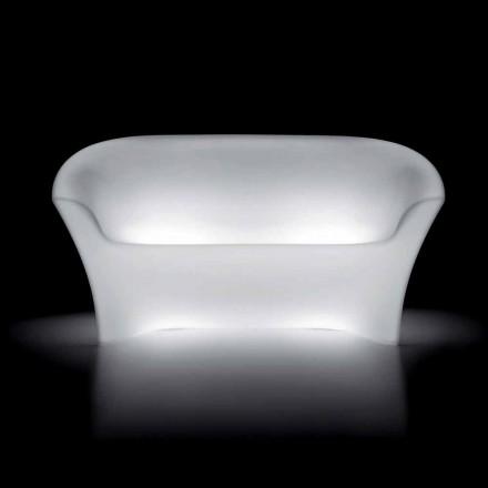 Utomhus ljus soffa i polyeten med LED-ljus Tillverkad i Italien - Conda