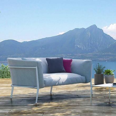 Modern soffa för borttagbar design utomhus eller inomhus Tillverkad i Italien - Carmine