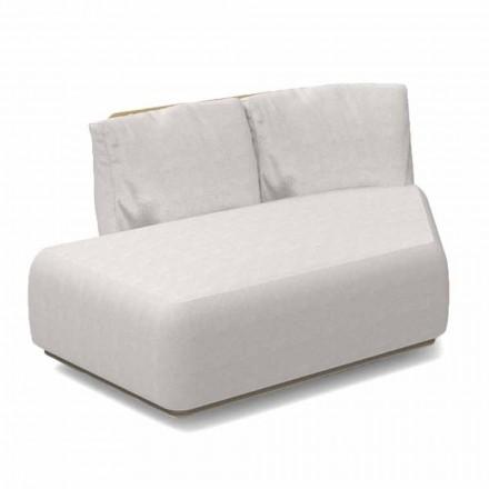 Right Oblique Modular Sofa för utomhus aluminium och tyg - Scacco Talenti