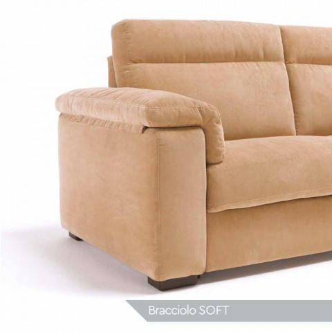 2-sits motoriserad soffa med 1 Lilia elsits, tillverkad i Italien