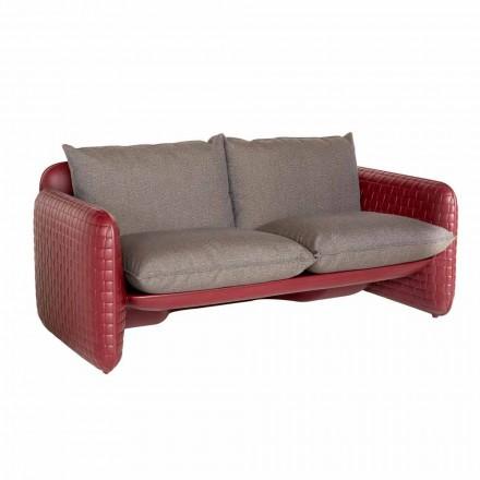 Två-sits utesoffa i tyg eller läder - Mara Slide