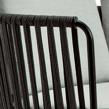 3-sits utesoffa i metall, rep och tyg tillverkad i Italien - Mari