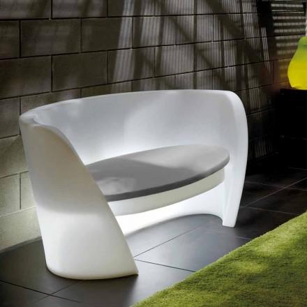 Slide Rap design inomhus polyeten soffa tillverkad i Italien