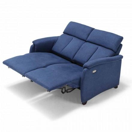 Soffa 2posti elektrisk avkoppling, 2 elektriska stolar Gelso, modern design