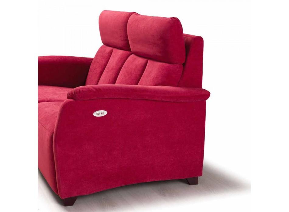 Elektrisk relax soffa 2 stolpar, 2 elektriska stolar Gelso, modern design