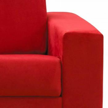 Tresitsig soffa i modern design i eko-läder / tyg tillverkad i Italien Mora