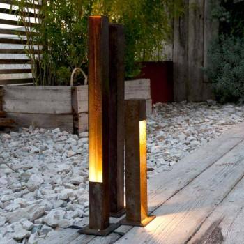 Artisan Outdoor Spotlight i Iron Corten Finish Tillverkad i Italien - Sparta