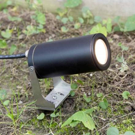 Trädgårdsstrålkastare i svart anodiserad aluminium med LED Made in Italy - Forla