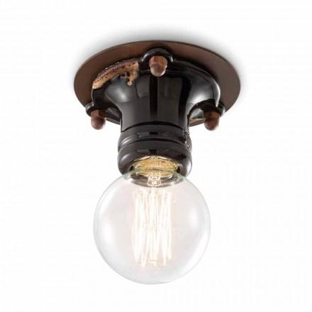 Design tak spotlight retro keramik och metall Cloe Ferroluce