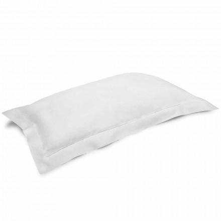 Örngott i grädde vitt rent linne tillverkat i Italien - vallmo