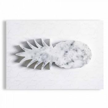 Ananasdesign Pappersvikt i vit Carrara Marble Tillverkad i Italien - Arta