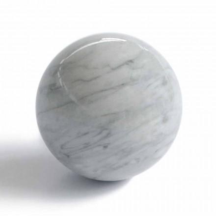 Modern bollpappersvikt i Bardiglio grå marmor tillverkad i Italien - sfär