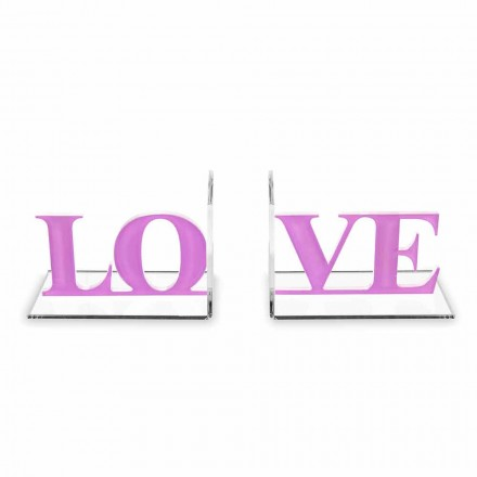 Design bokstöd i lavendel eller röd plexiglas skriftlig kärlek - Felove