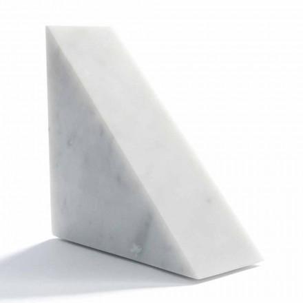 Modern vit Carrara marmor Bookend Tillverkad i Italien - Tria