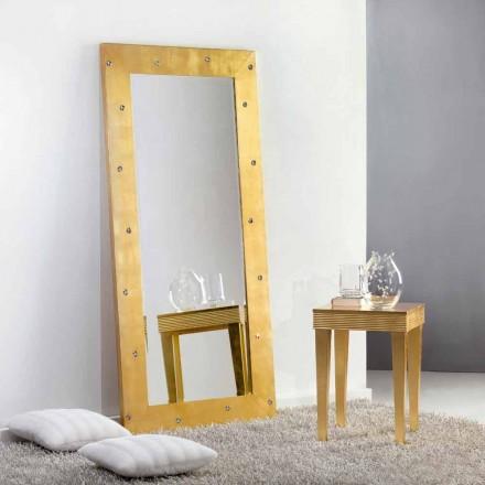 Stor spegel golv / vägg med Swarovski kristaller Vivien