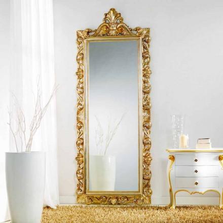 Stor spegel golv / vägg klassiskt designade Tiara, 86x220 cm