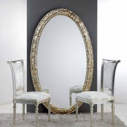 Stora ovala spegel från golvet / väggen Livet, 114x190 cm