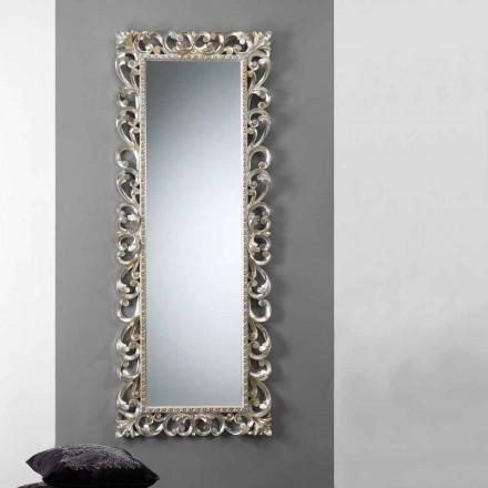 Stor vertikal vägg spegel med dekorerade ram Paris