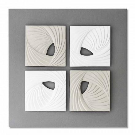 Vit och grå dekorativ vägginstallation för modern design - Bossy