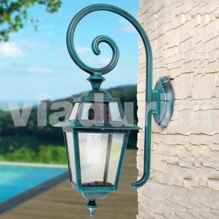 Trädgårdslampa mnade med aluminium, tillverkad i Italien, Kristel
