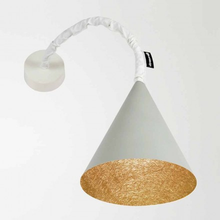 Designer vägglampa In-es.artdesign Jazz Cement målad